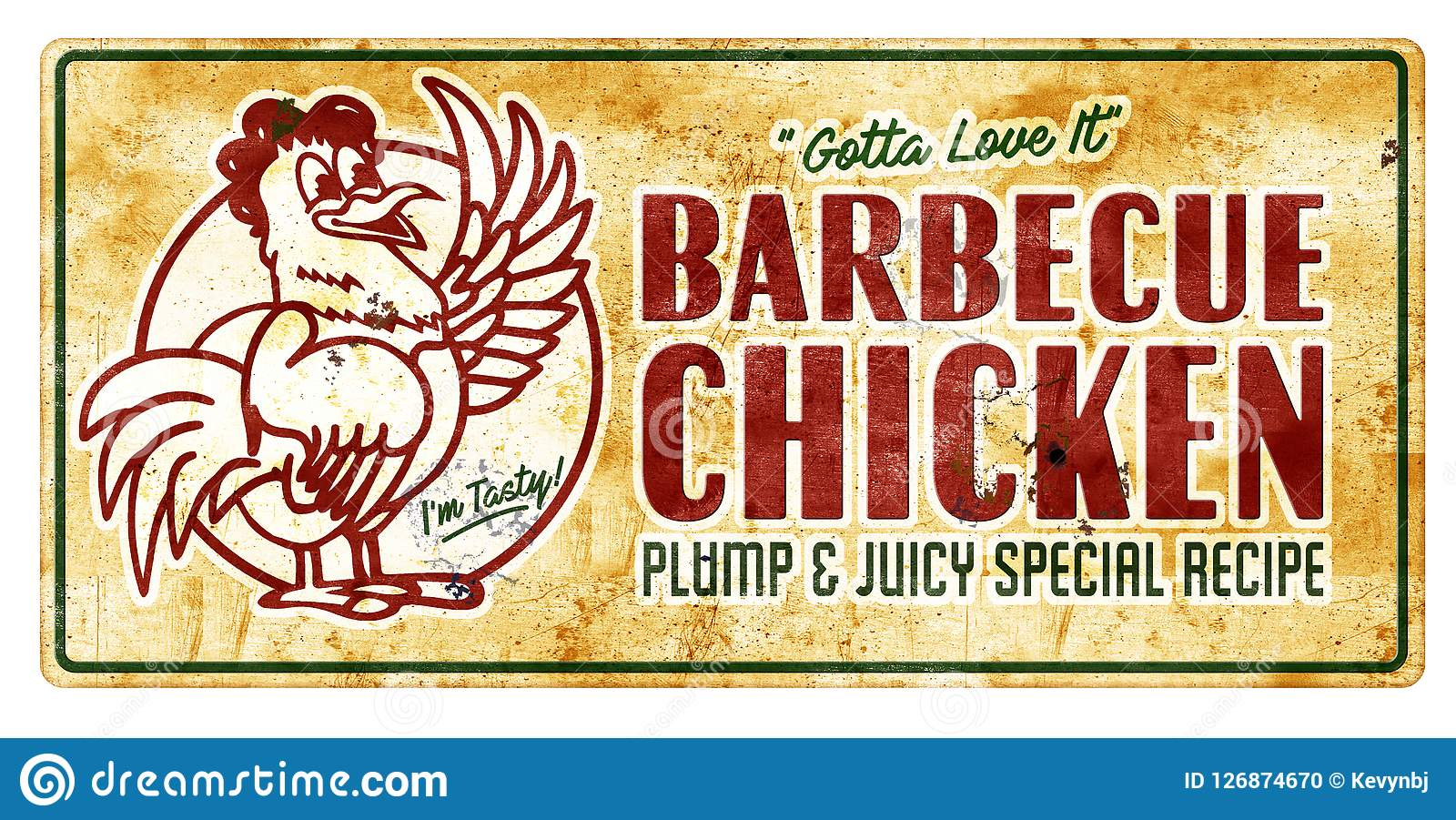 """BARBECUE CHICKEN 18""""x24"""" Yard Sign & Stake outdoor plastic ...   Bbq Chicken Sign"""