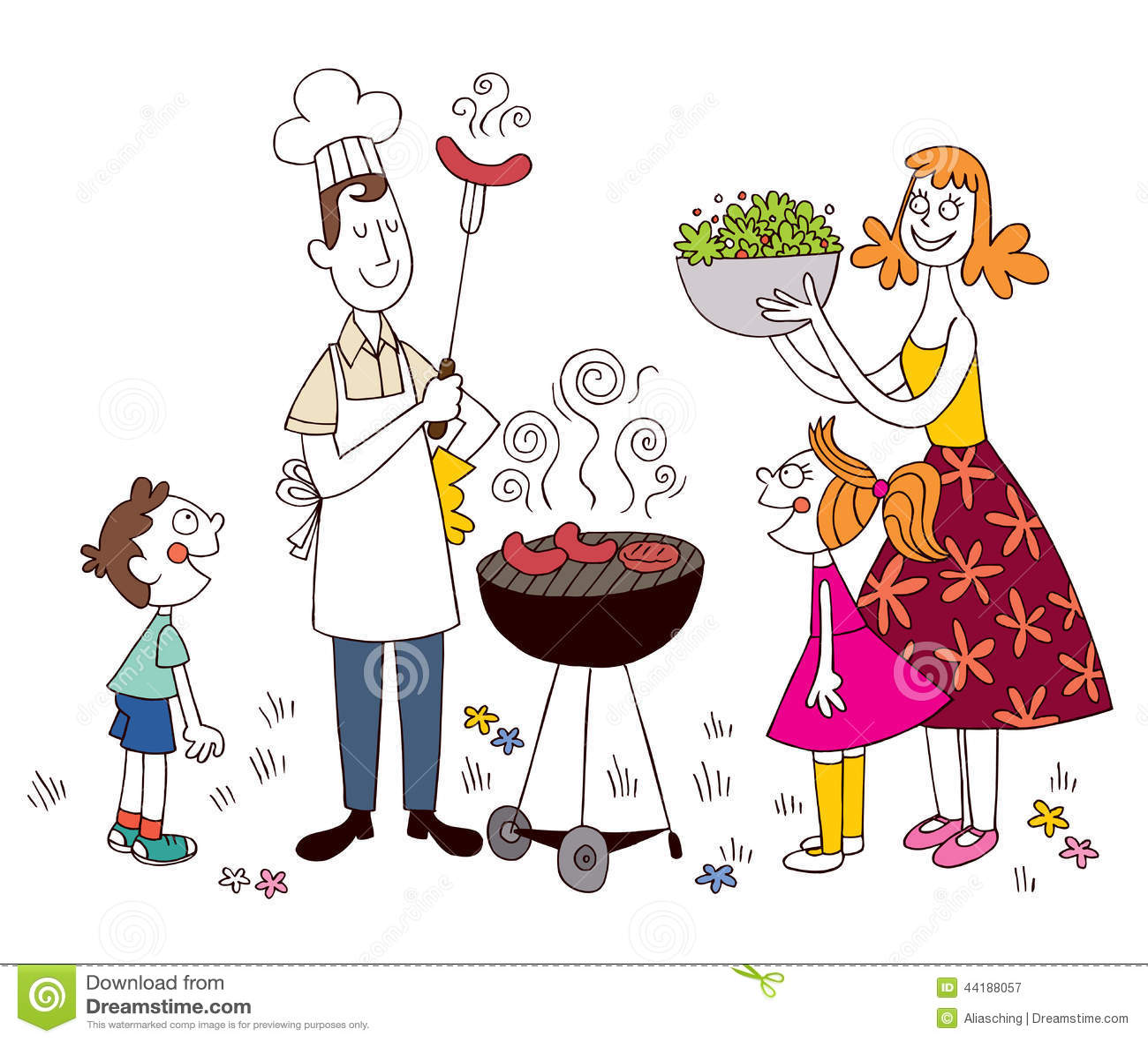 Barbecue della famiglia