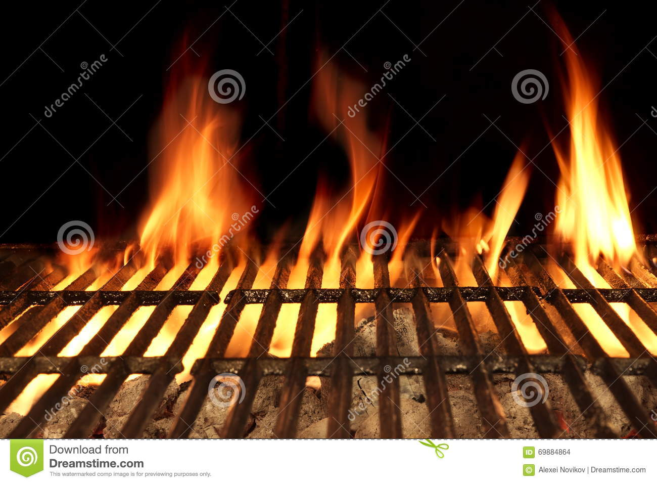 Seafood Barbecue Grills On The Stove Stock Image
