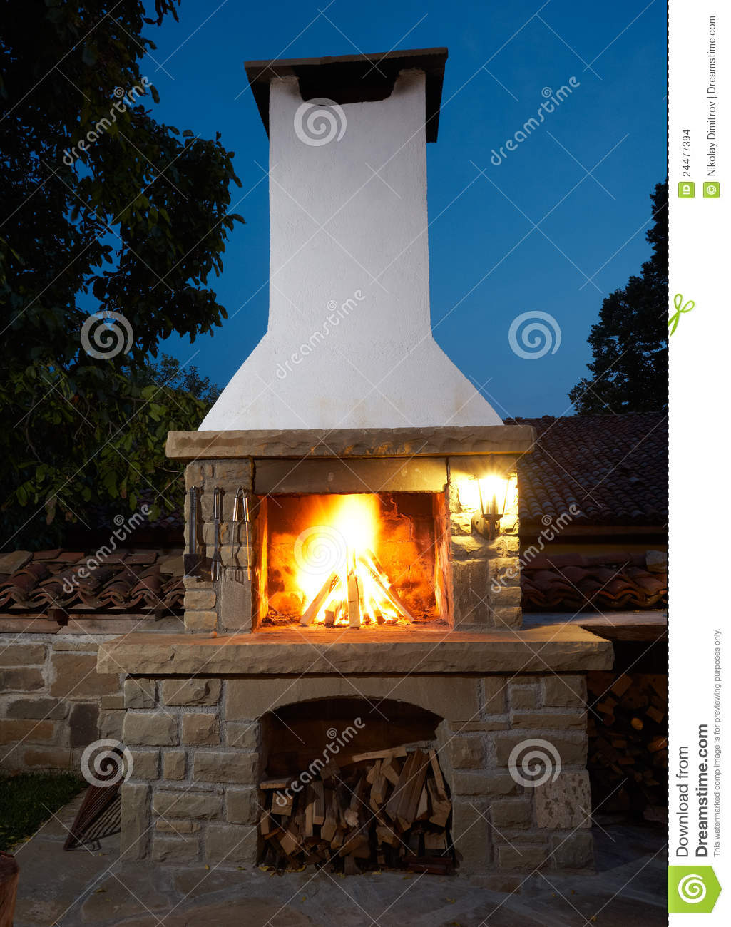 Barbecue Fireplace Stock Images - Image: 24477394