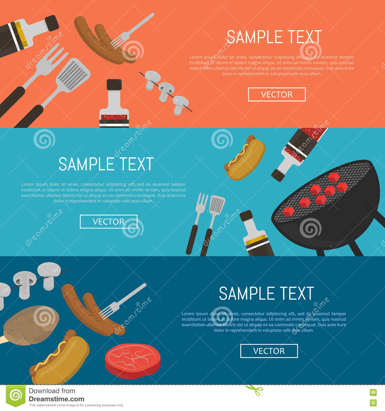 Delivery service horizontal website templates vector image.