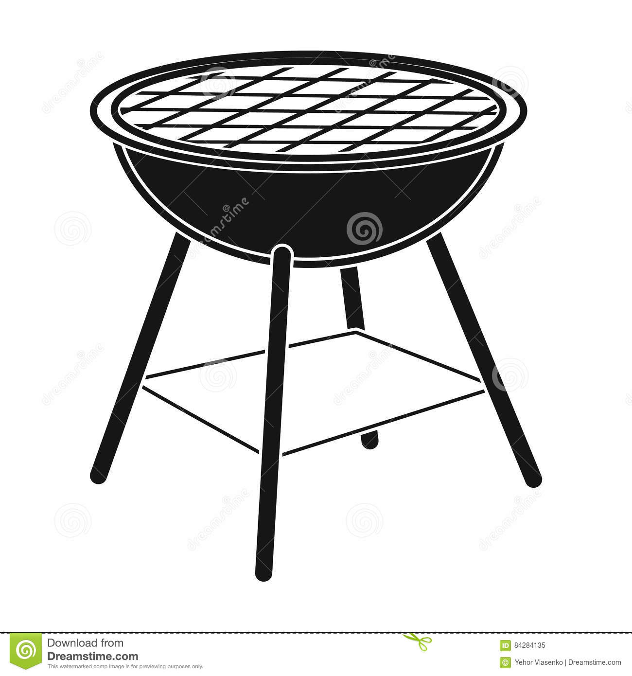 Barbecue grill icon in black style isolated on white background barbecue grill icon in black style isolated on white background picnic symbol stock vector illustration biocorpaavc