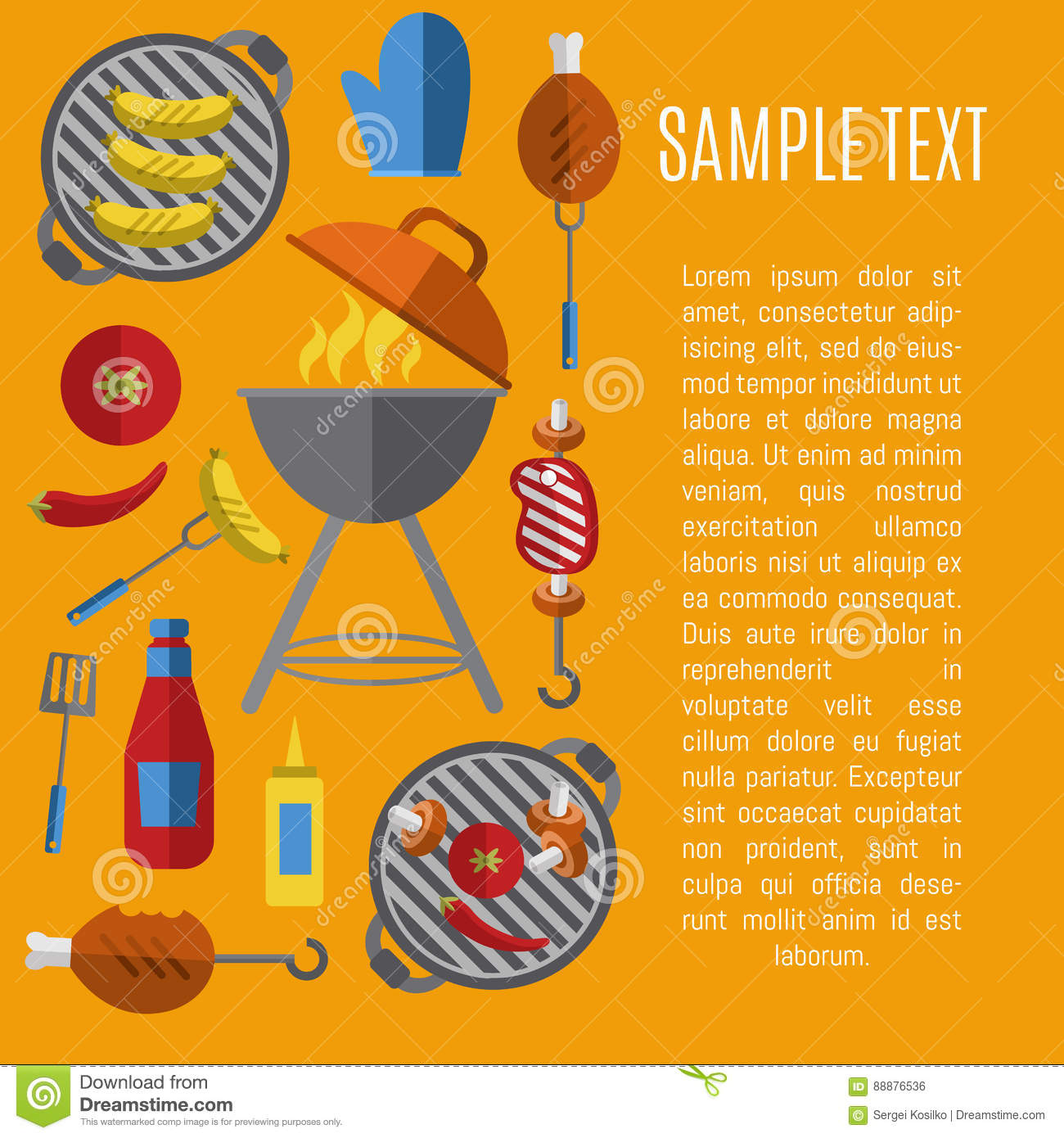 Poster design tools - Barbecue Grill Poster Design Template