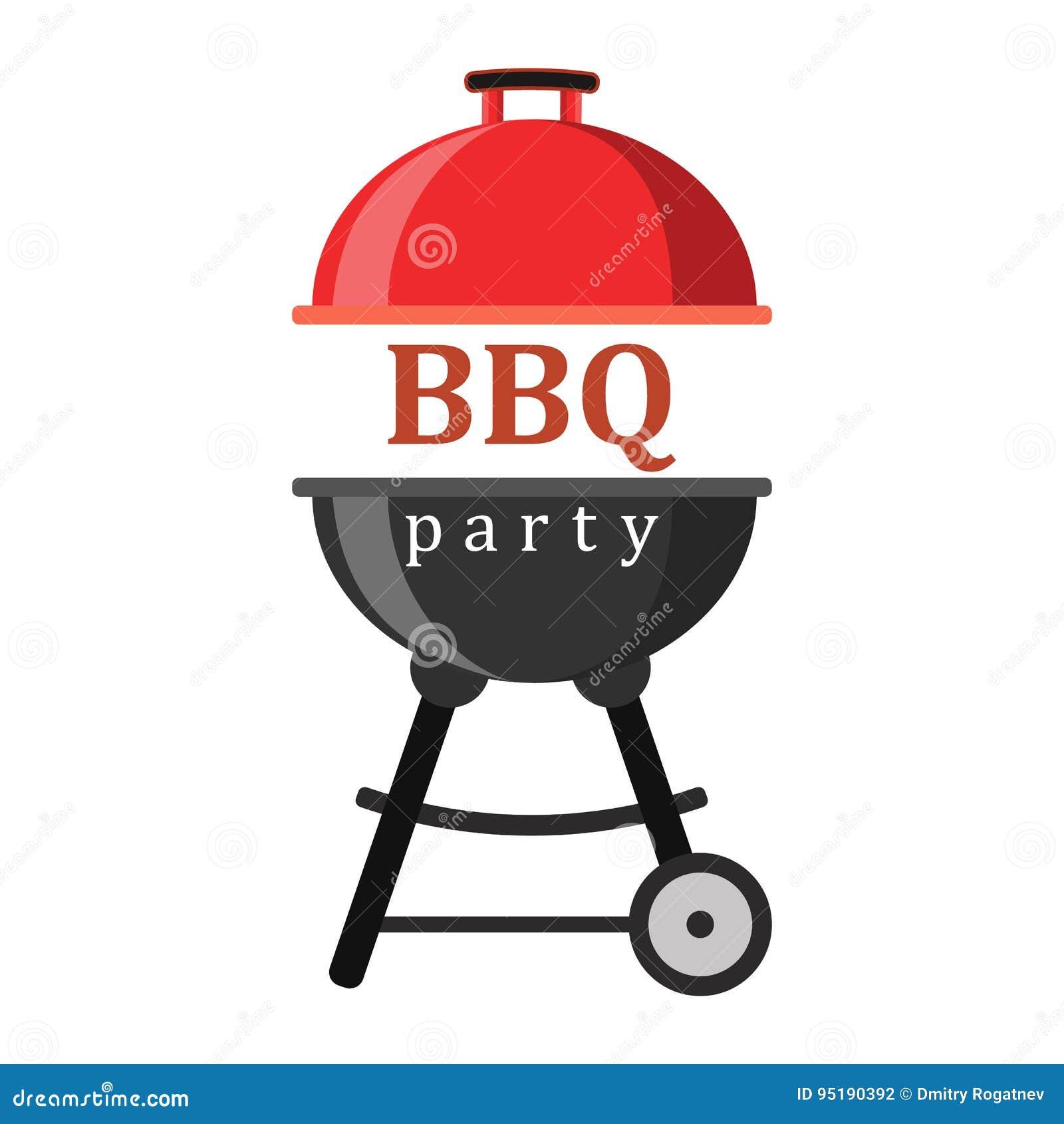 Barbecue of grillpartijpictogram