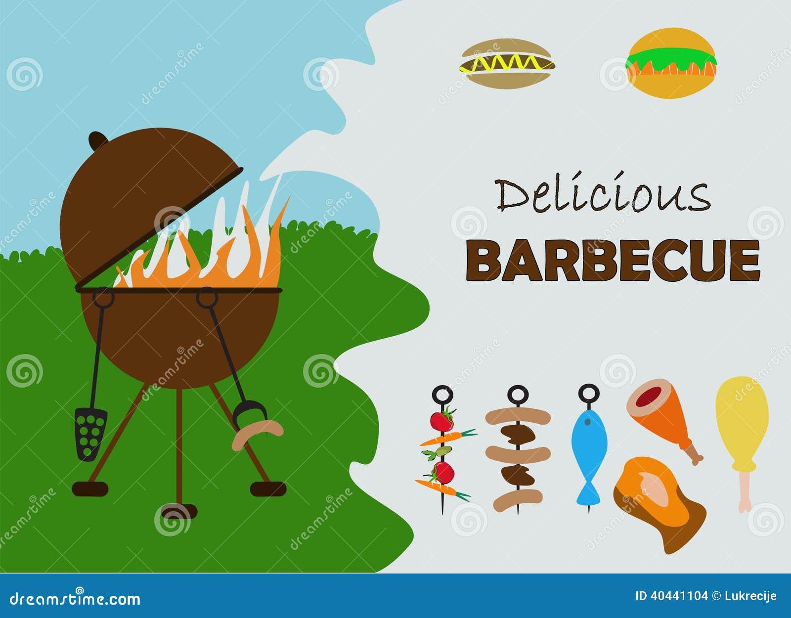 Barbecue Invitation Card Stock Illustration - Image: 40441104
