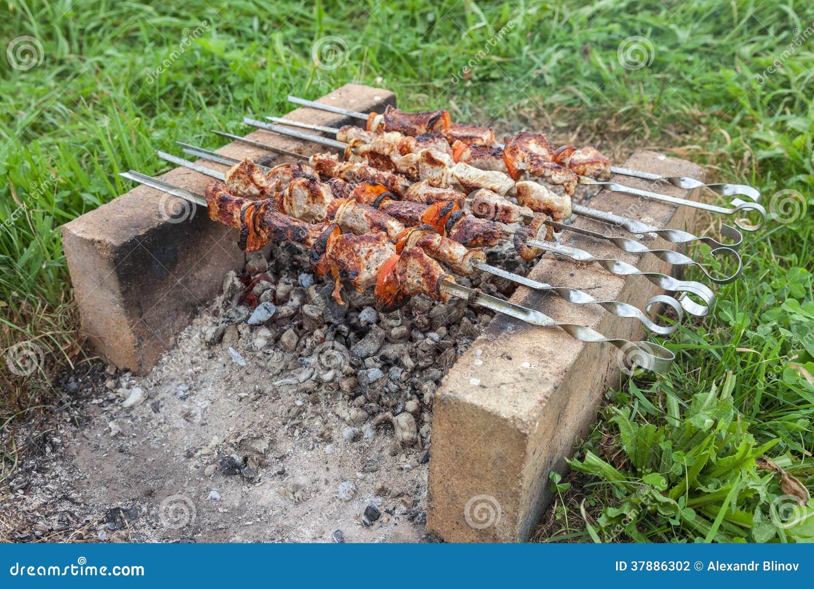 Barbecue met heerlijk geroosterd vlees