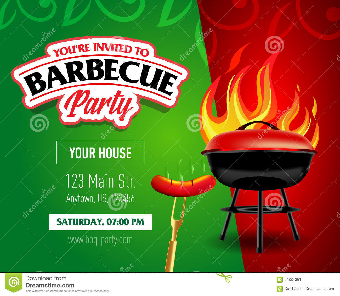barbecue party design barbecue invitation barbecue logo bbq template menu design barbecue. Black Bedroom Furniture Sets. Home Design Ideas