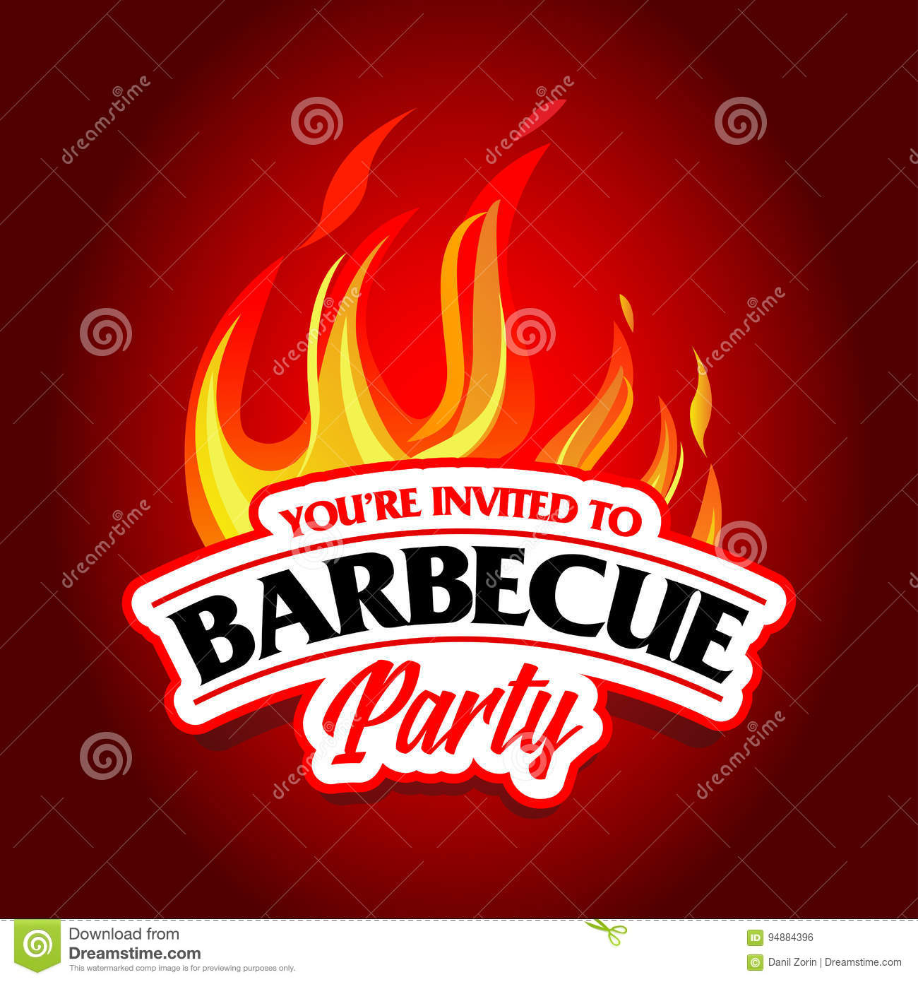 Barbecue party design, Barbecue invitation. Barbecue logo. BBQ template menu design. Barbecue Food flyer. Barbecue advertisement.