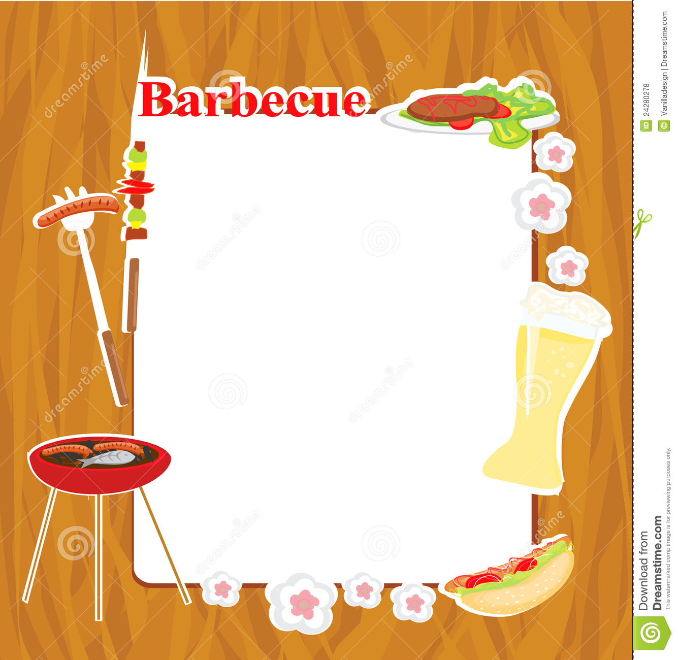 Com royalty free stock photos barbecue party invitation image24280278