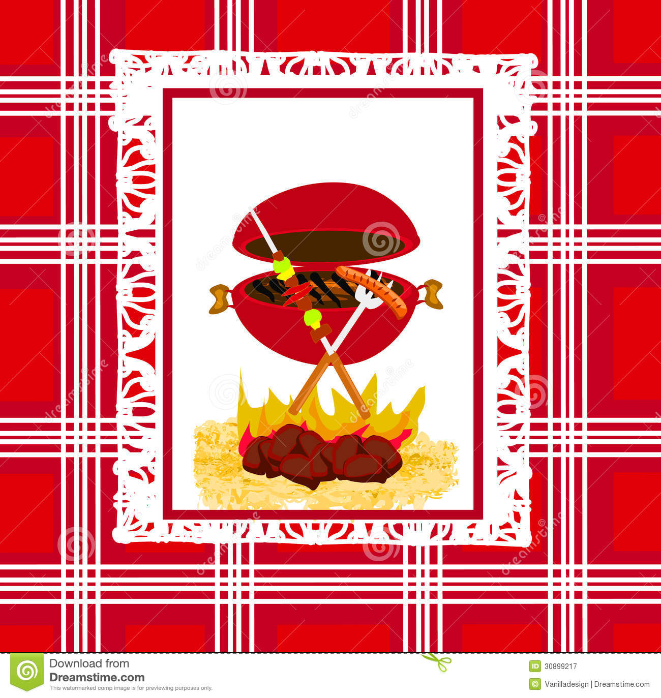 Barbecue Party Invitation Royalty Free Stock Photography - Image ...