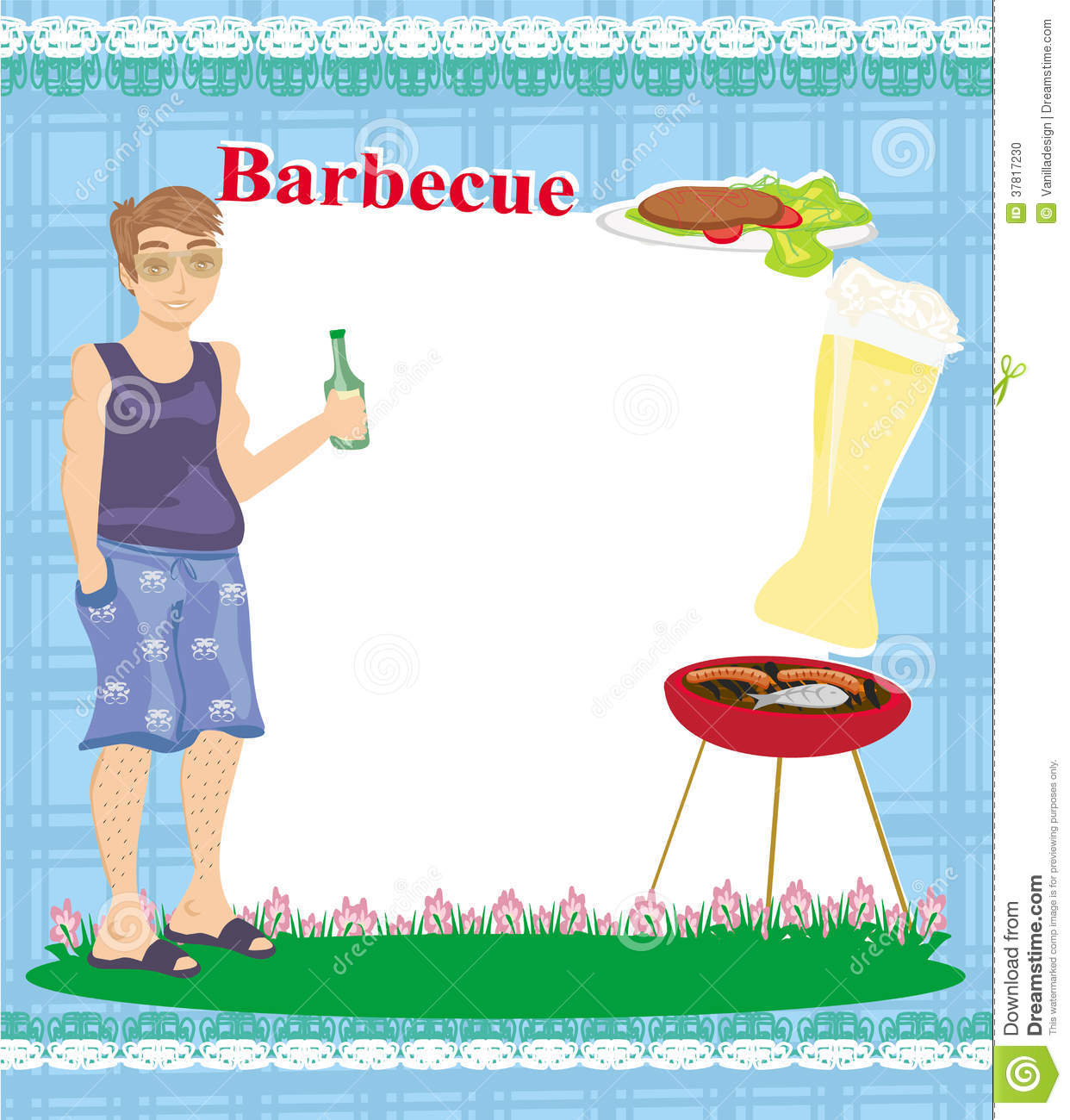 Barbecue Party Invitation Royalty Free Stock Image - Image: 31611816