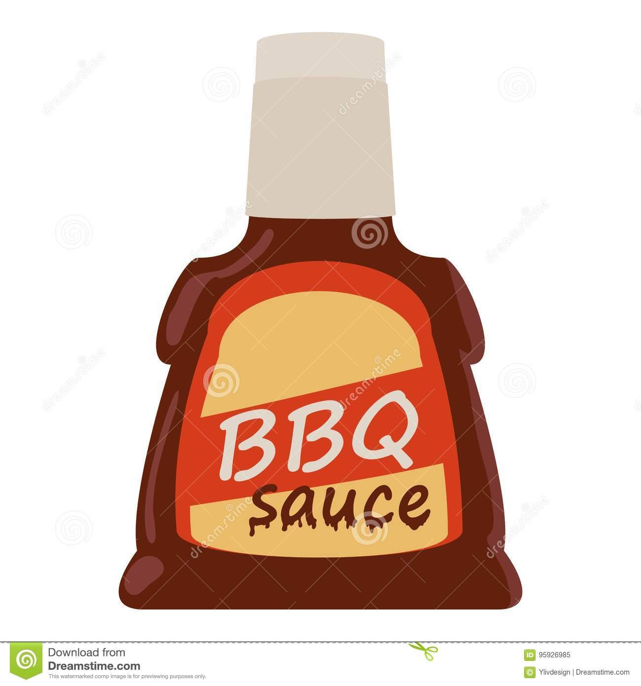 Barbecue sauce icon, cartoon style