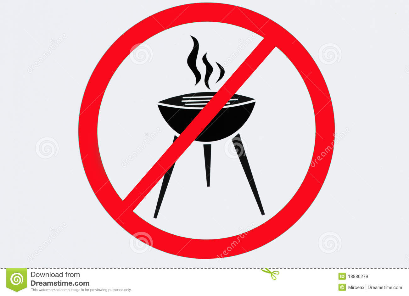 Stock Photo: Barbecue sign. Image: