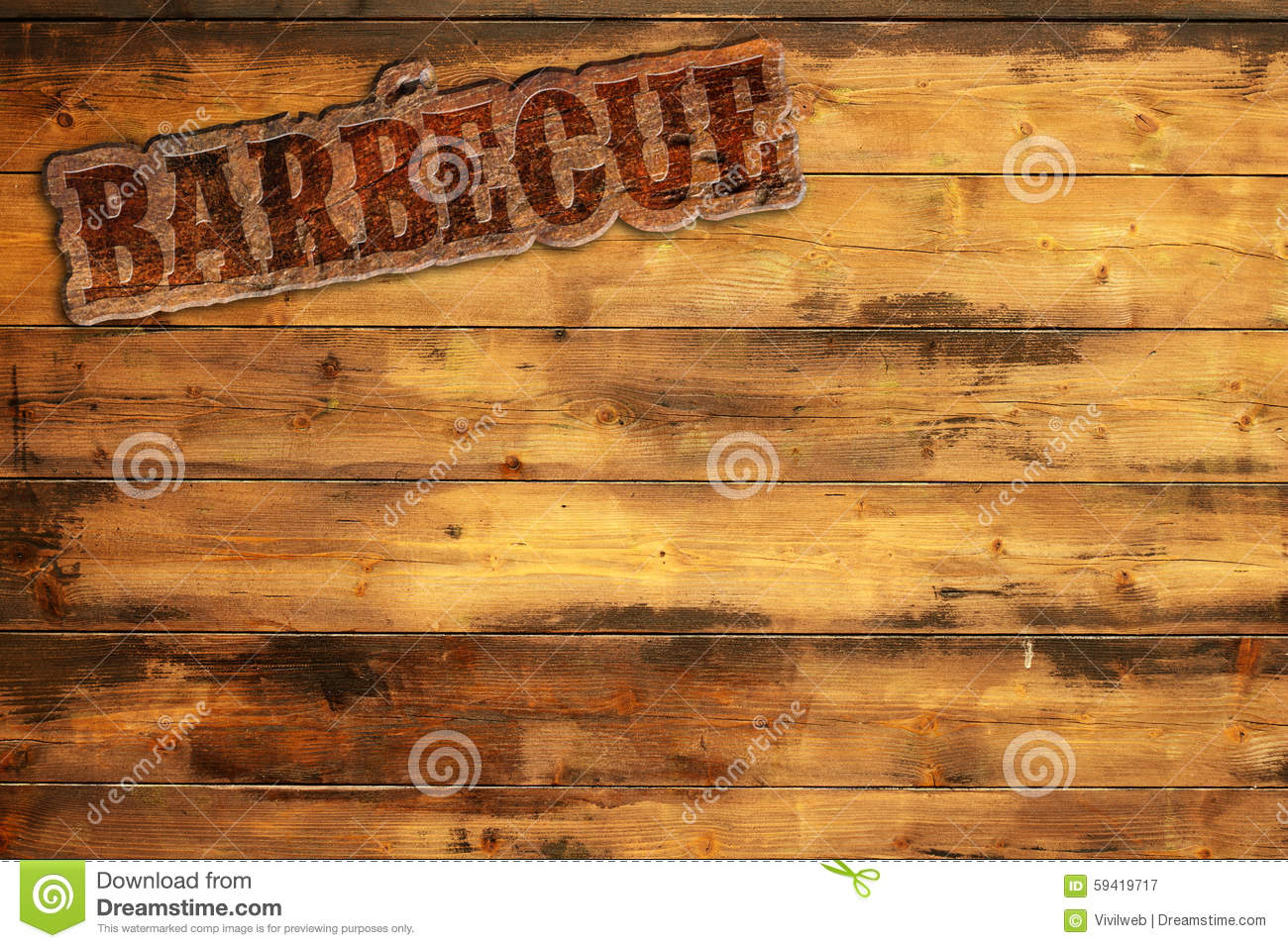Barbecue Signboard Stock Illustration Image 59419717