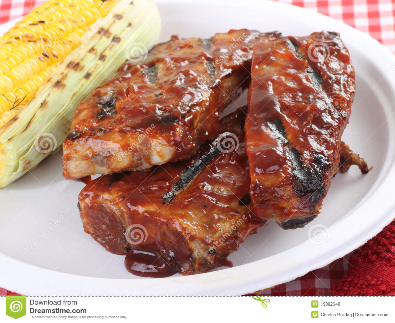 Barbecue Spareribs Royalty Free Stock Photos - Image: 19882648