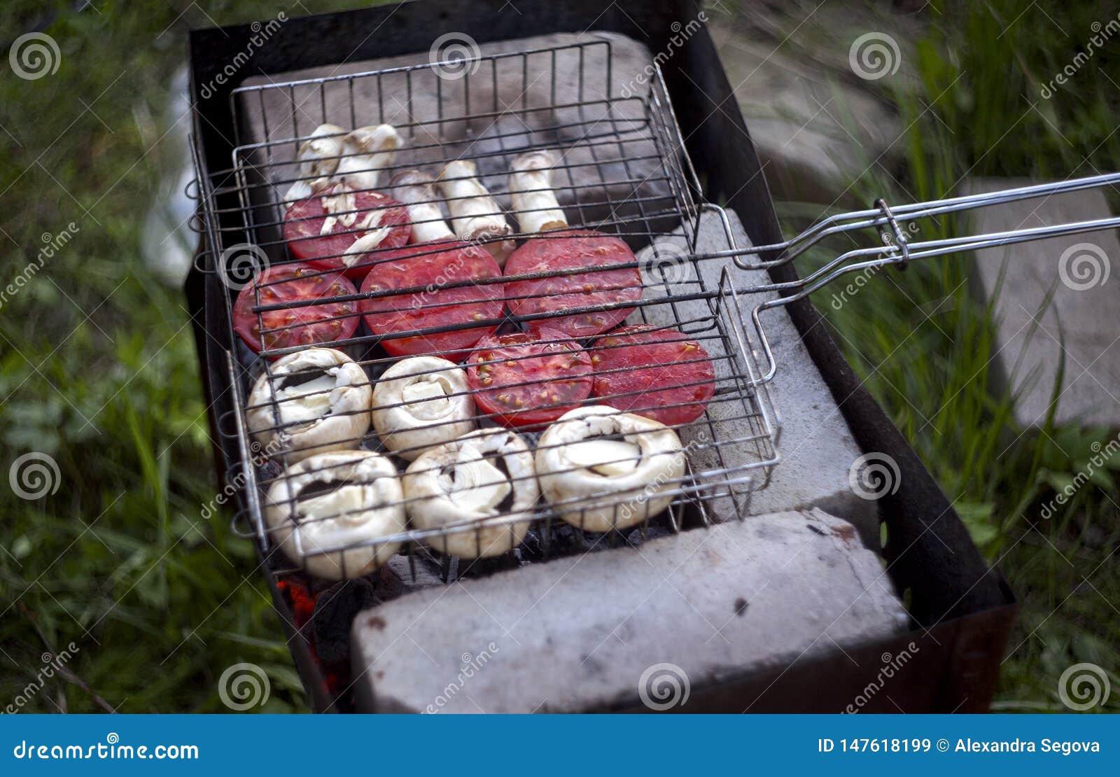 Barbecue vegeterian extérieur