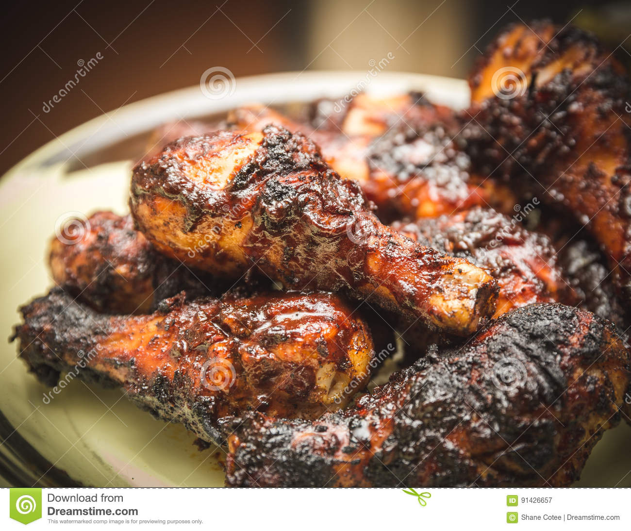 Barbecued Chicken with Sauce and Spices