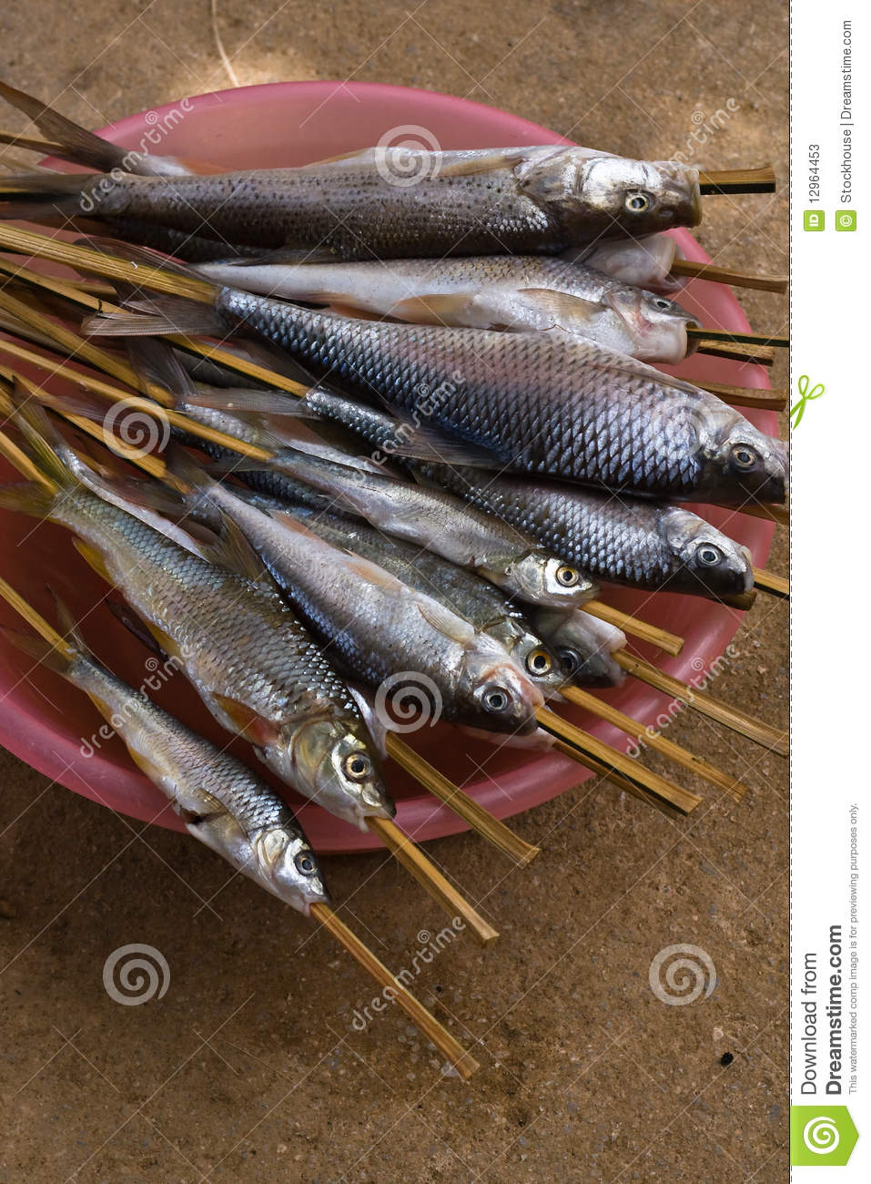 Barbecued fish on stick stock photos image 12964453 for Fish on a stick