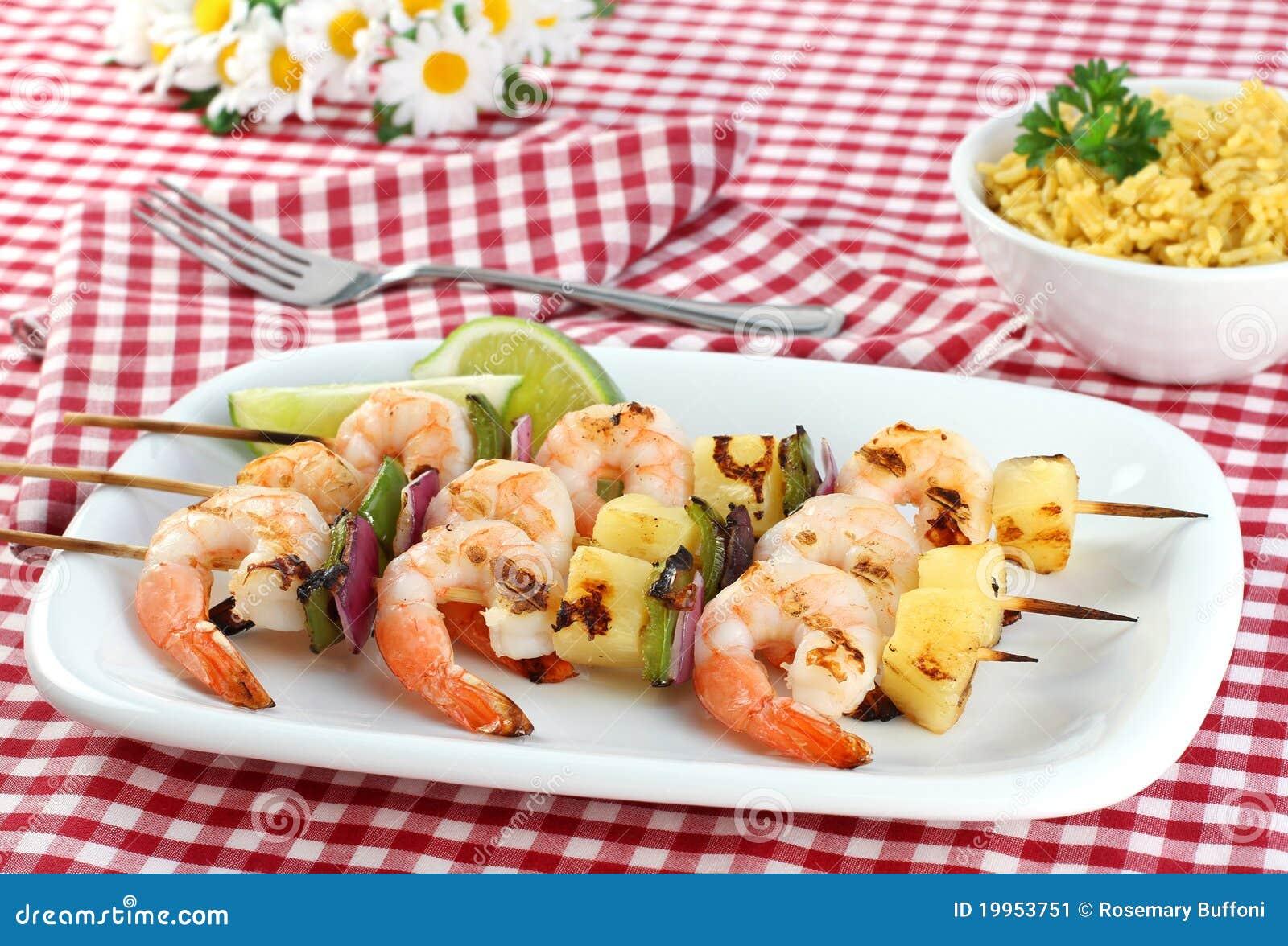 Barbecued Shrimp Kabobs