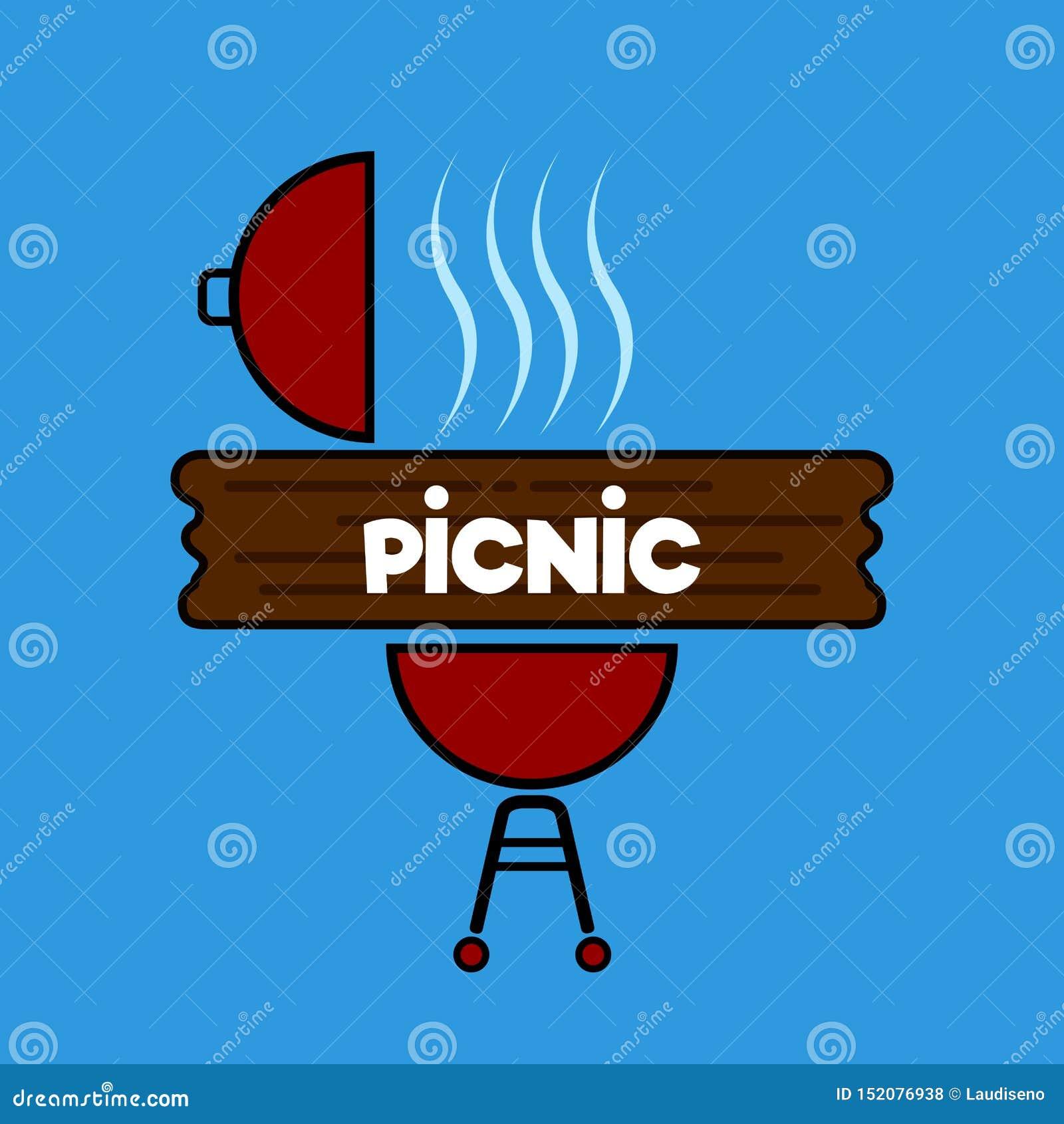 Barbecuel grill z drewnianą deską
