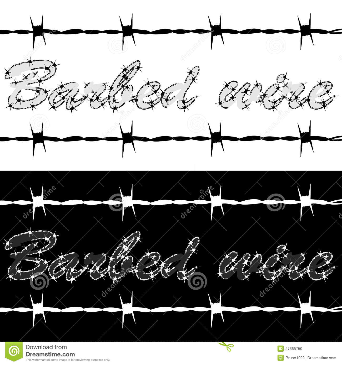 Barbed wire stock vector image of concept cartoon