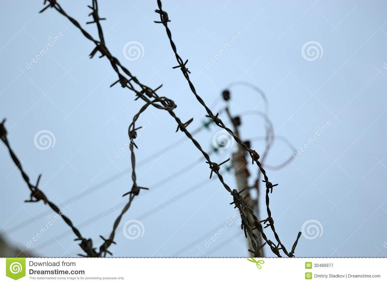 Barbed wire royalty free stock photography image
