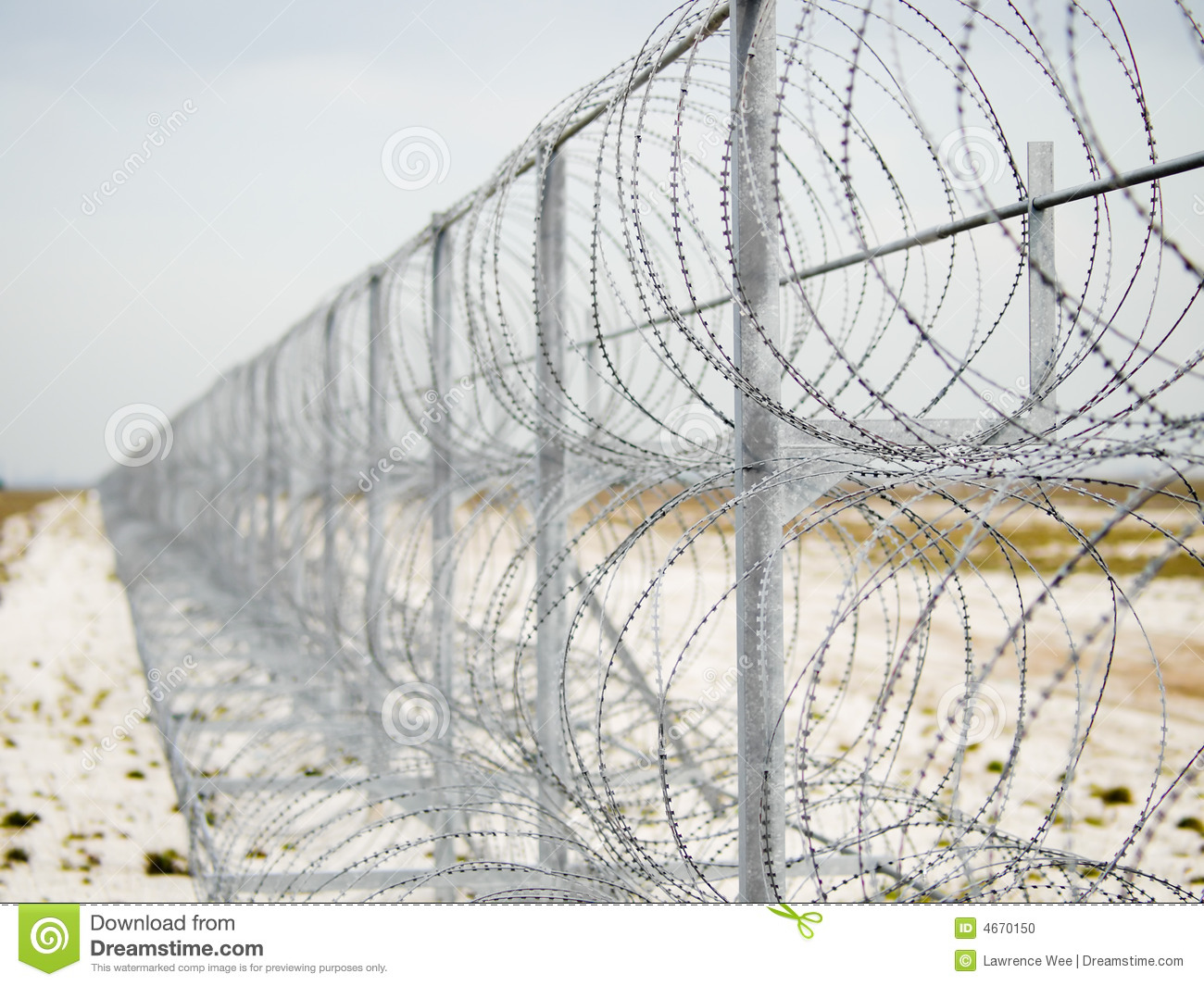 Barbed Wire Barrier stock photo. Image of hopelessness - 4670150