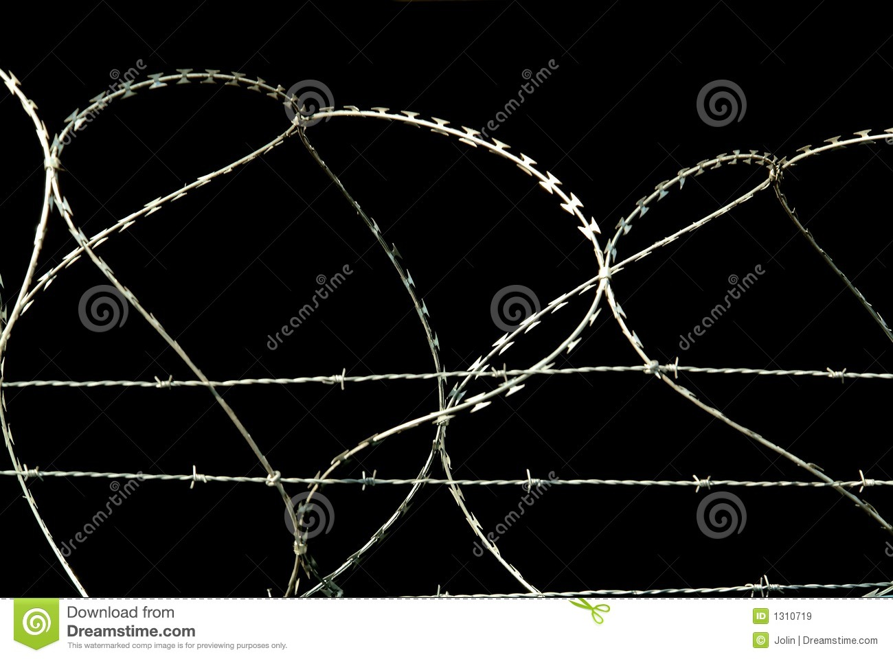Barbed wire on black background royalty free stock images