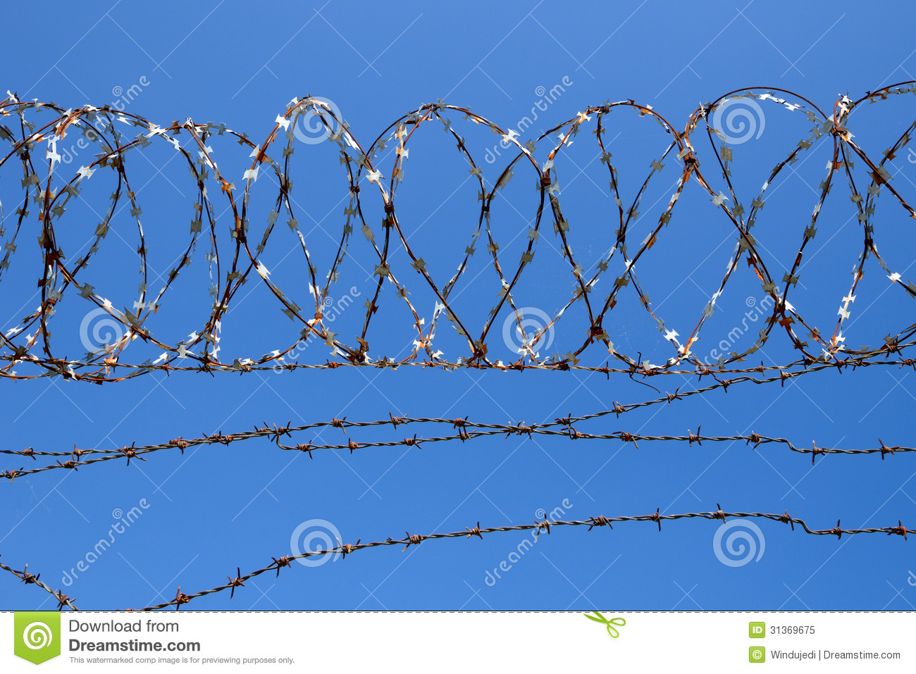 Barbed wire royalty free stock photo image