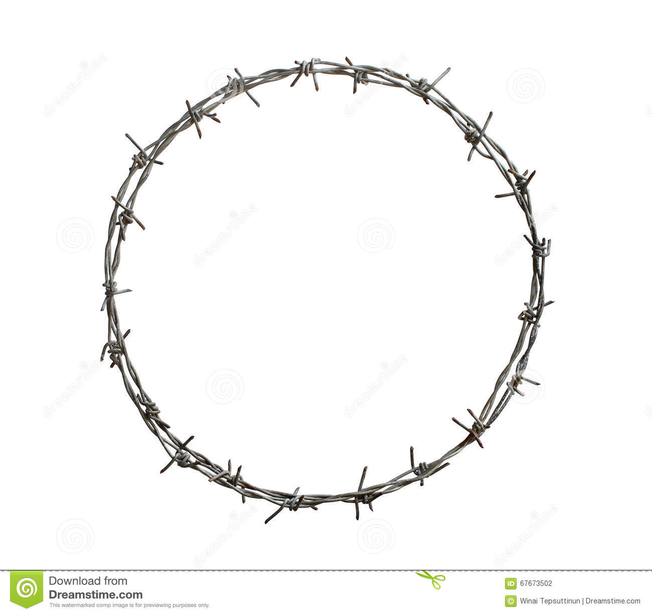 Barbed wire coil for sell stock photo cartoondealer