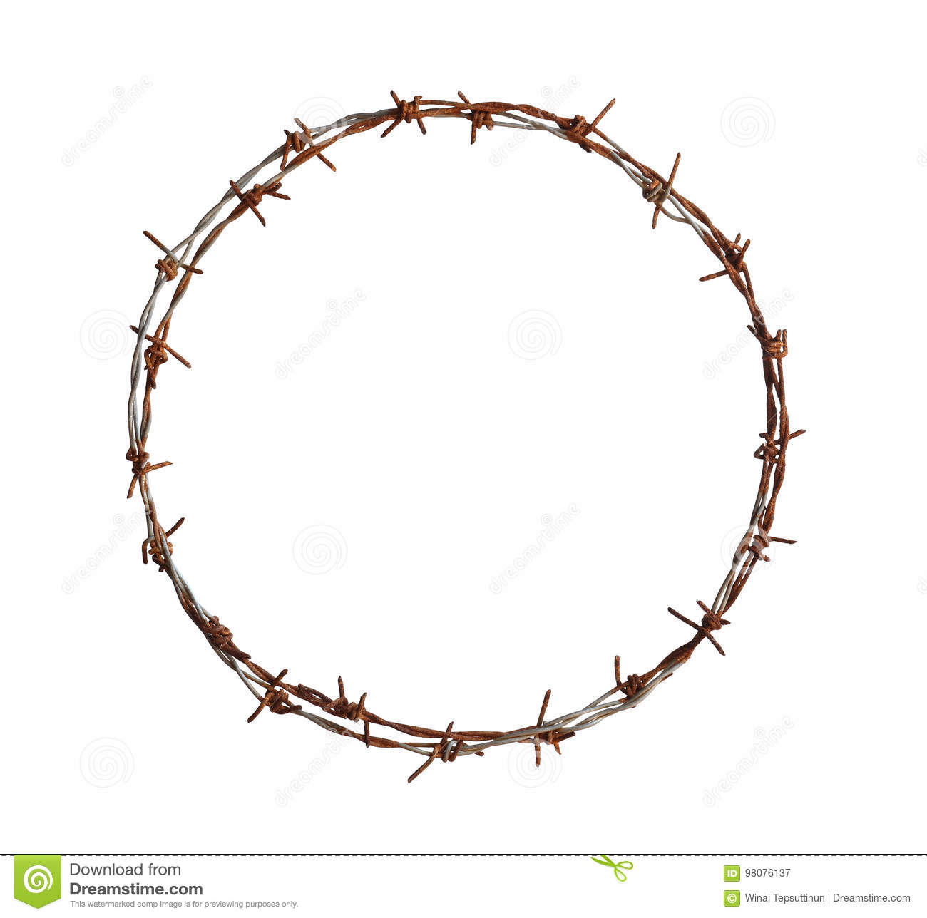 Barbed wire circle stock photos royalty free pictures