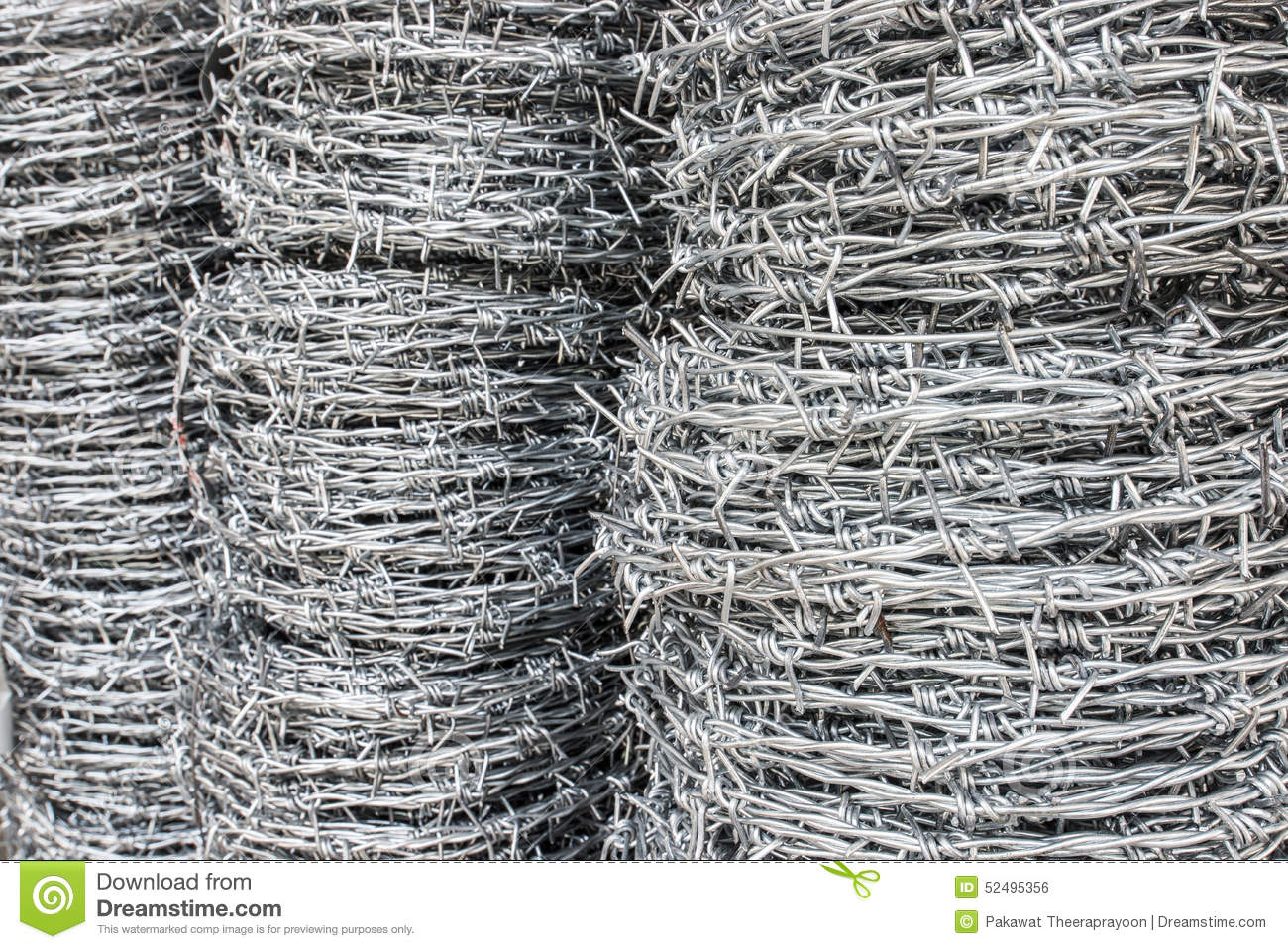 Barbed wire coil for sell stock photo image of