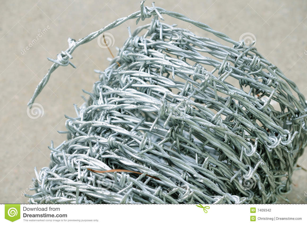 Barbed wire detail stock photo. Image of dangerous, roll - 7409342