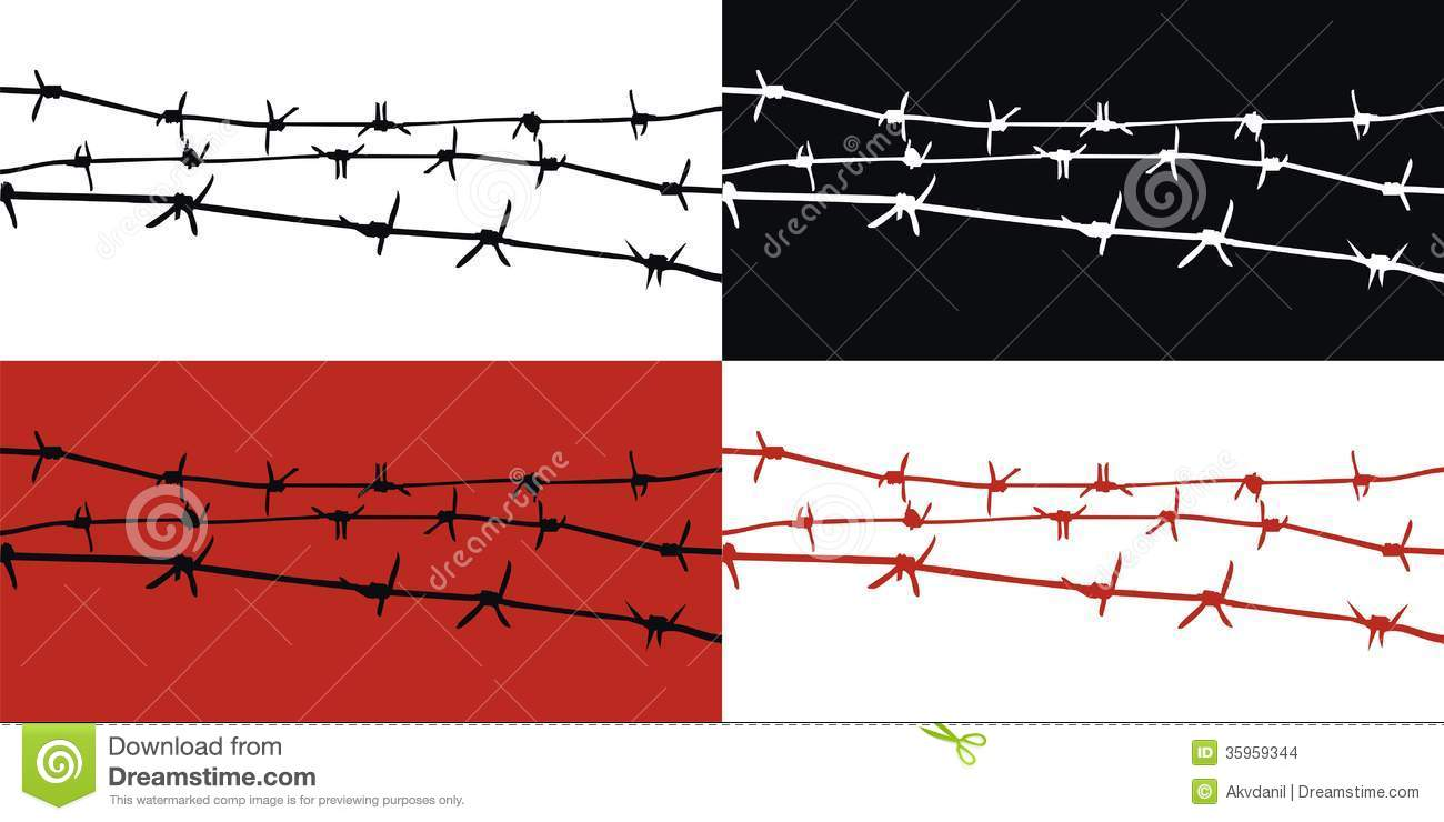 Barbed wire stock images image