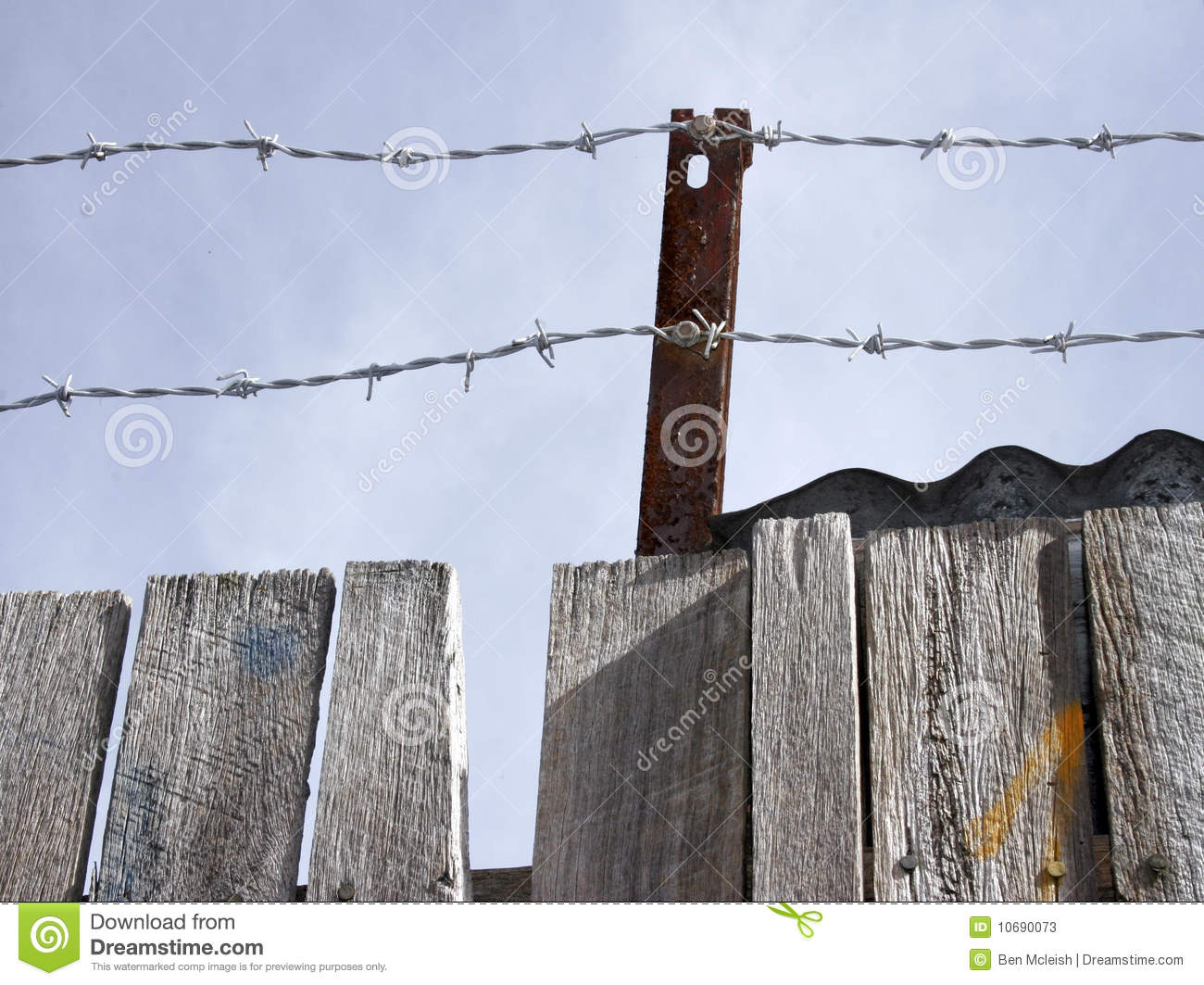 Barbed Wire With Padlock Royalty-Free Stock Photo
