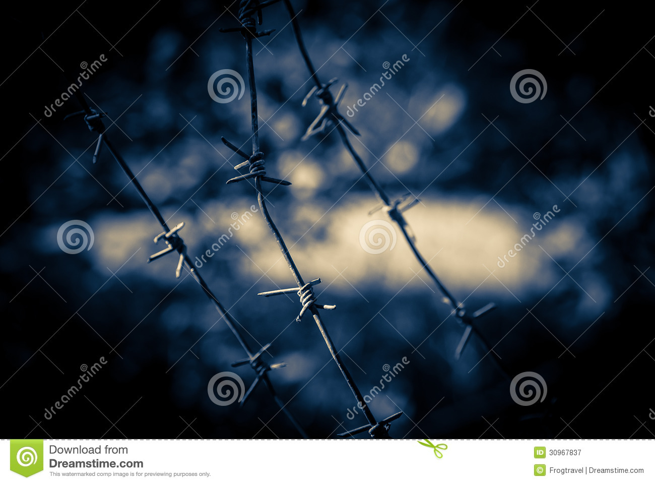 Barbed wire fence royalty free stock photography image