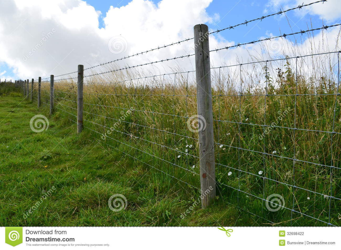 barbed wire fence along meadow fields stock photo image barbed wire vector pattern barbed wire vector clip