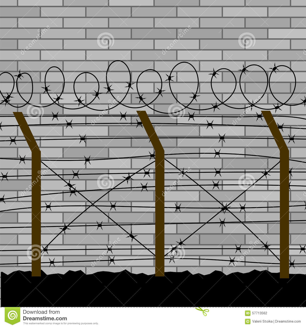 how to draw a barbed wire fence