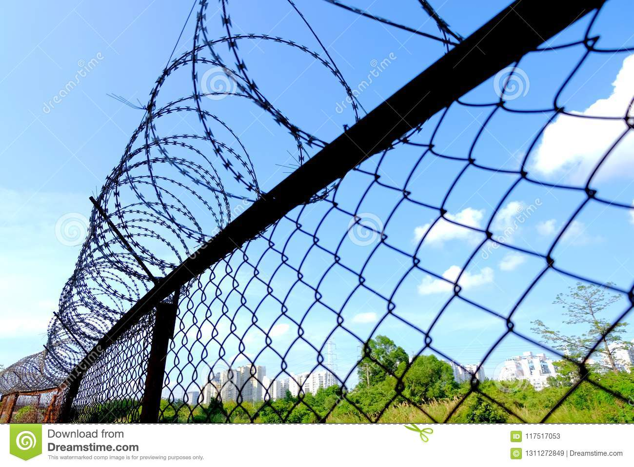Barbed wire fence stock image. Image of mind, connect - 117517053