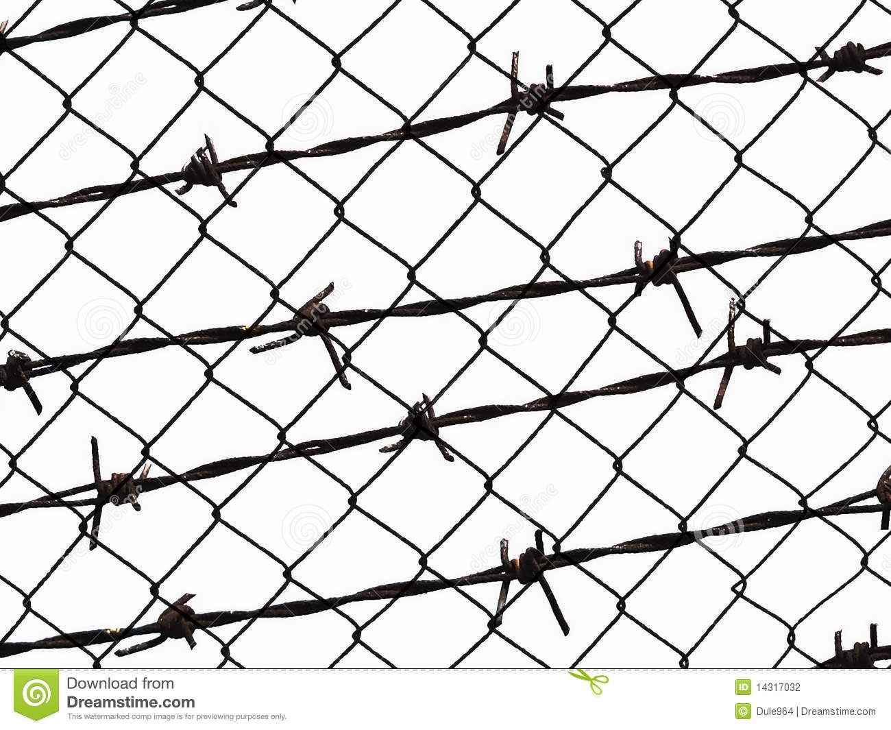 Barbed Wire Fence Protection Isolated On White Stock Illustration Squirrel Cage Wiring Diagram Get Free Image About Download Of Boundary Enclosure