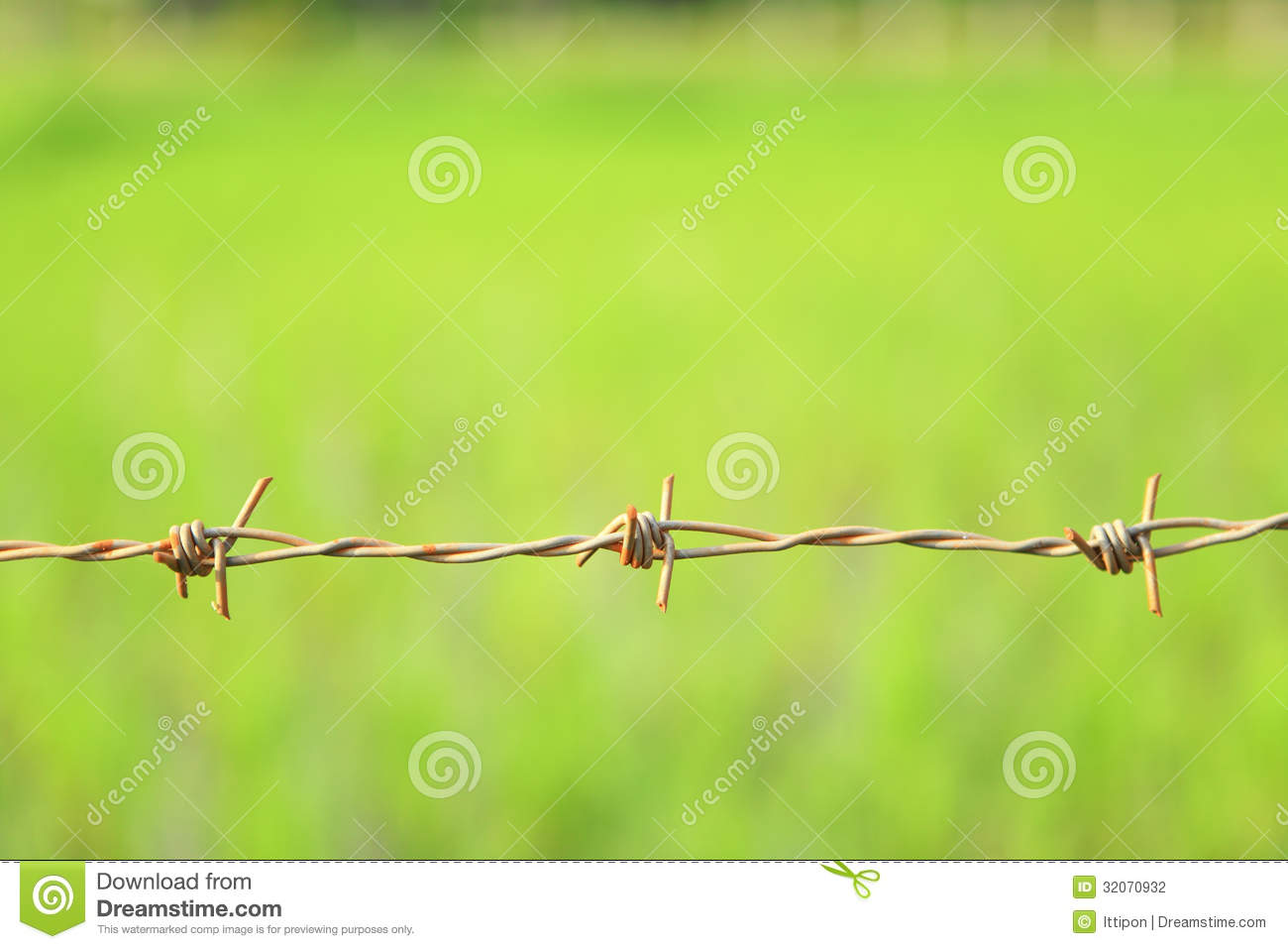 Barbed wire stock photography image