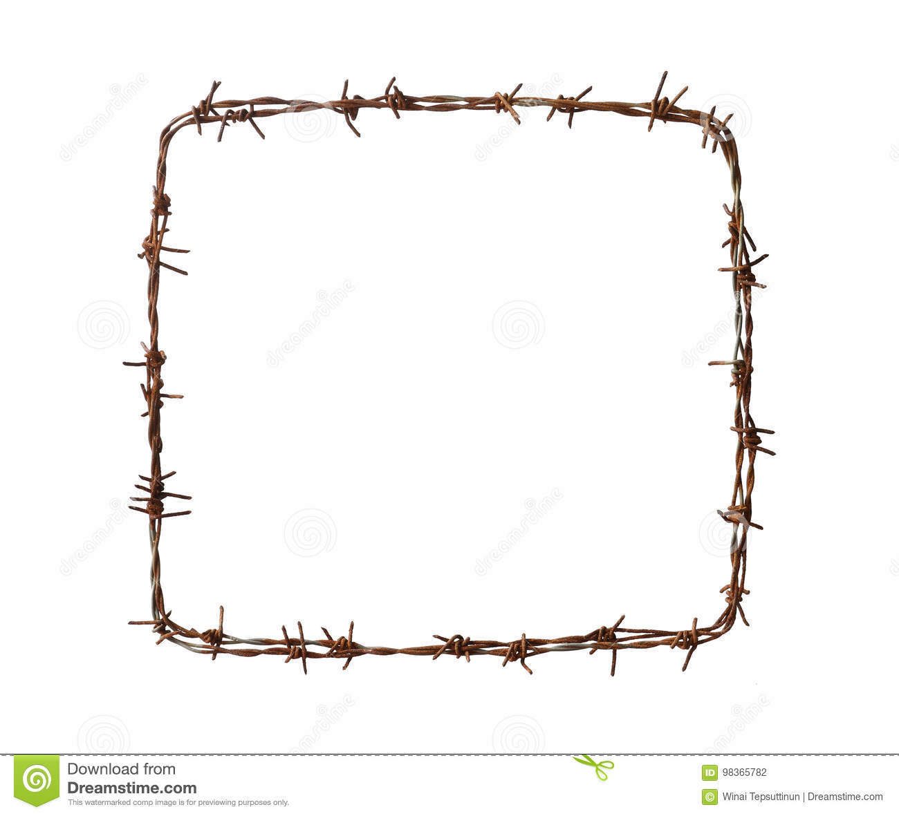 Barbed wire square stock photo. Image of defense, barbwire - 98365782