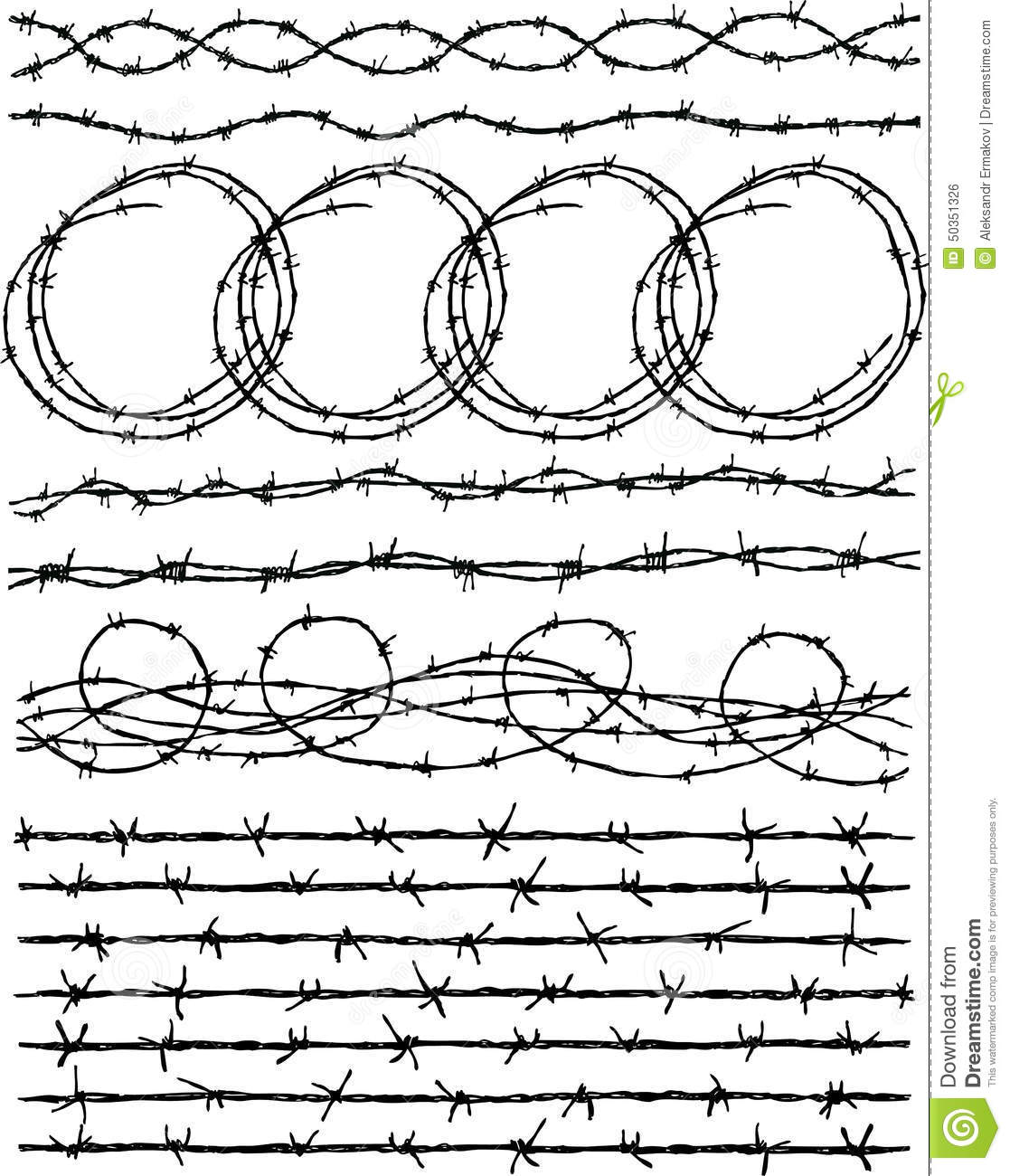 how to draw barbed wire
