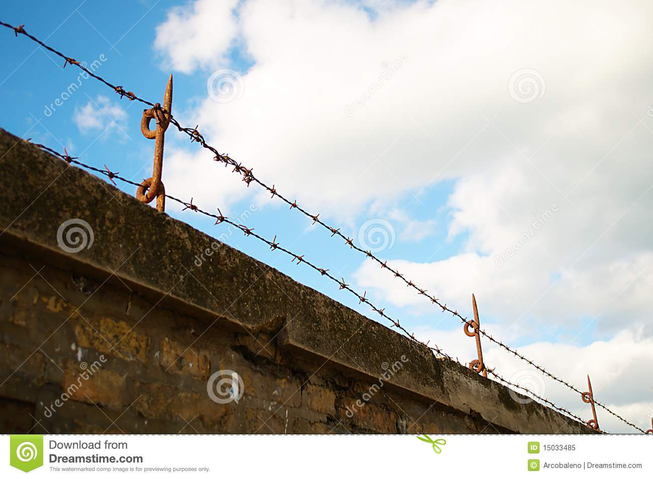 Barbed Wire Wall : Barbed wire wall royalty free stock photo image