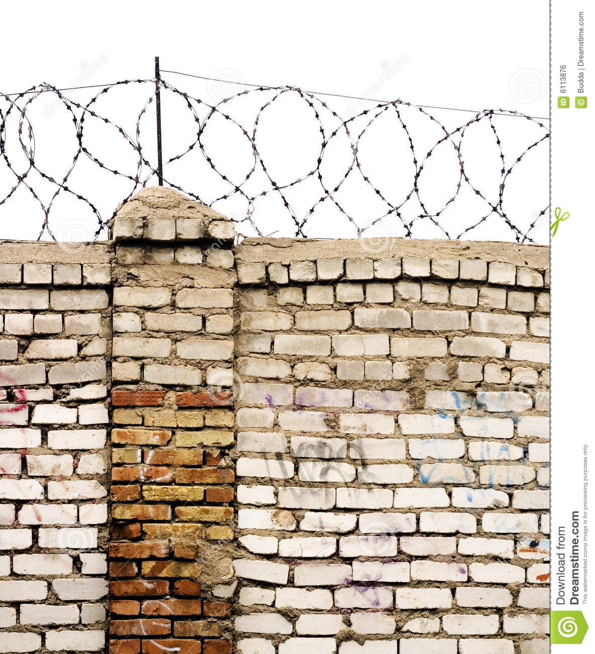 Barbed wire wall stock photo image of clip design