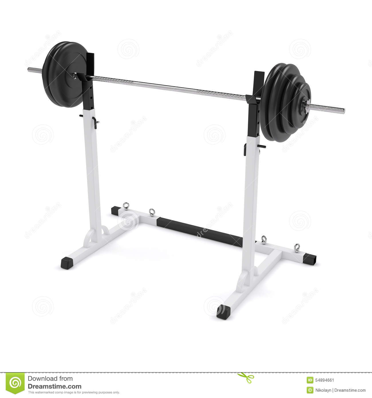 Barbell On The Stand Stock Photo Image 54894661