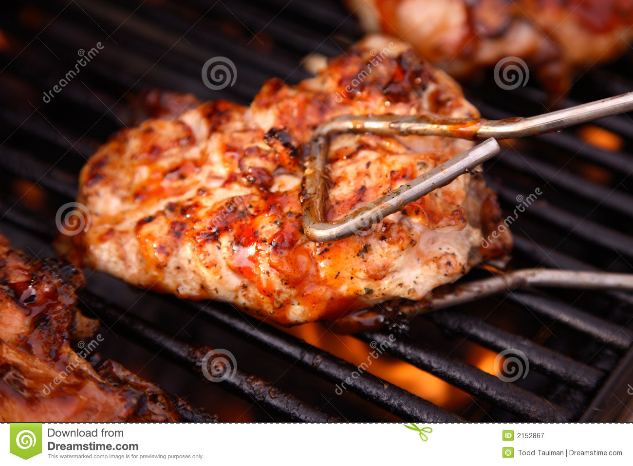 Barbeque Chicken On The Grill Royalty Free Stock Photography - Image ...
