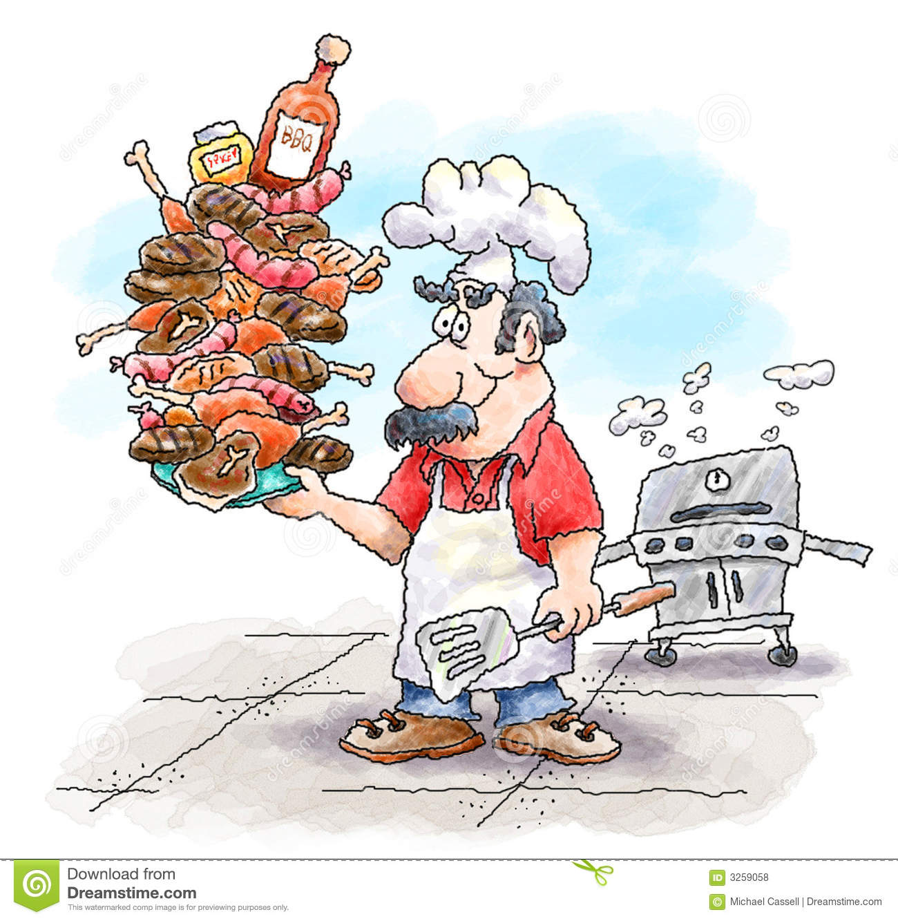Barbeque Guy Royalty Free Stock Photos - Image: 3259058