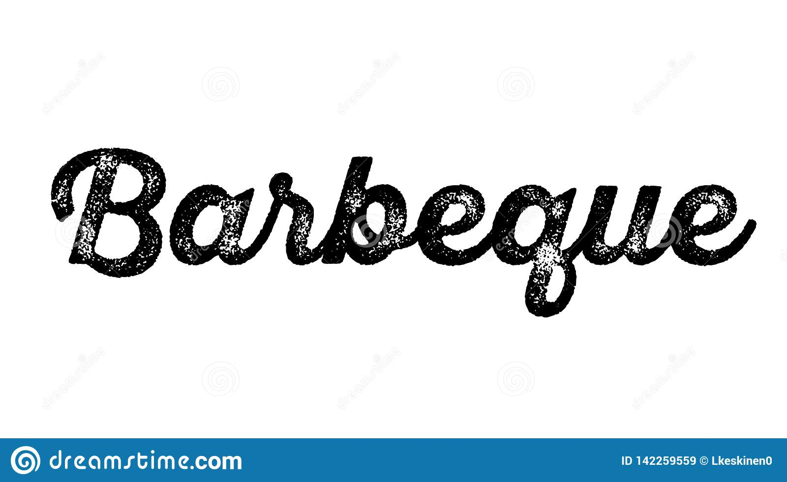 Barbeque stamp on white