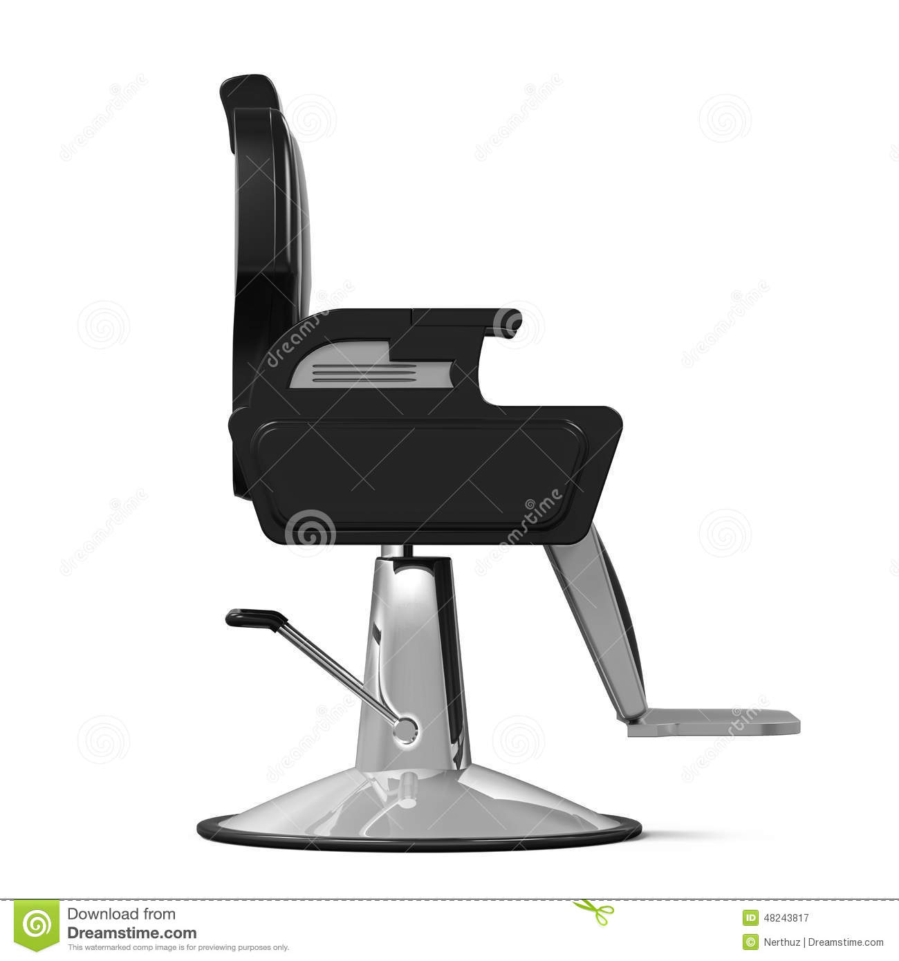 Barber chair vector - Barber Chair Isolated Royalty Free Stock Photography